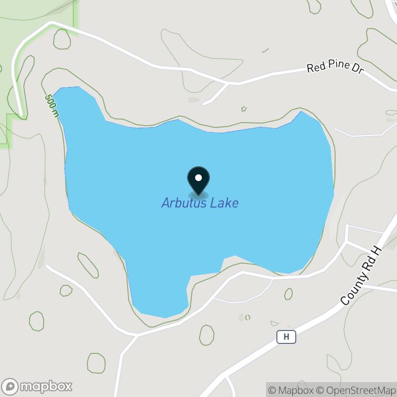 Arbutus Lake Map