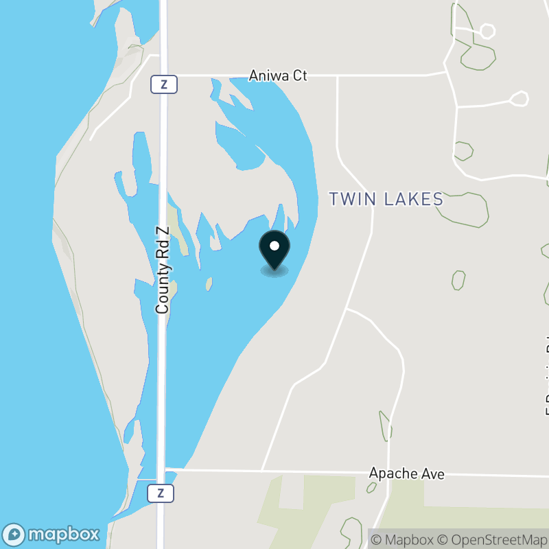 Twin Lakes (WI) Map