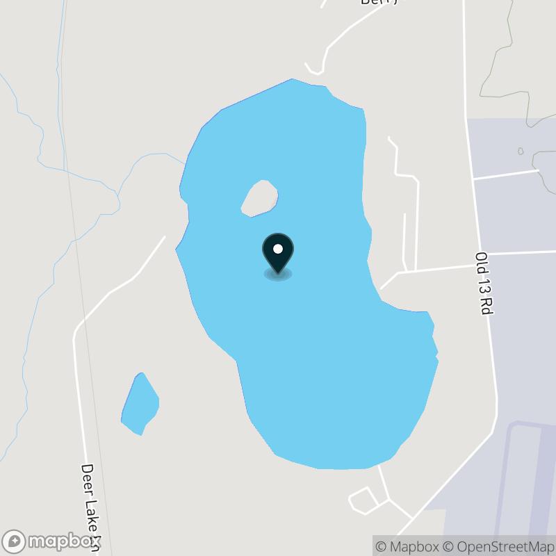 Deer Lake (WI) Map