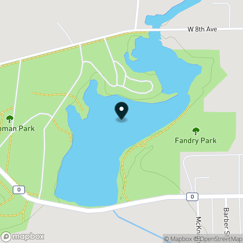 Chapman Lake (WI) Map