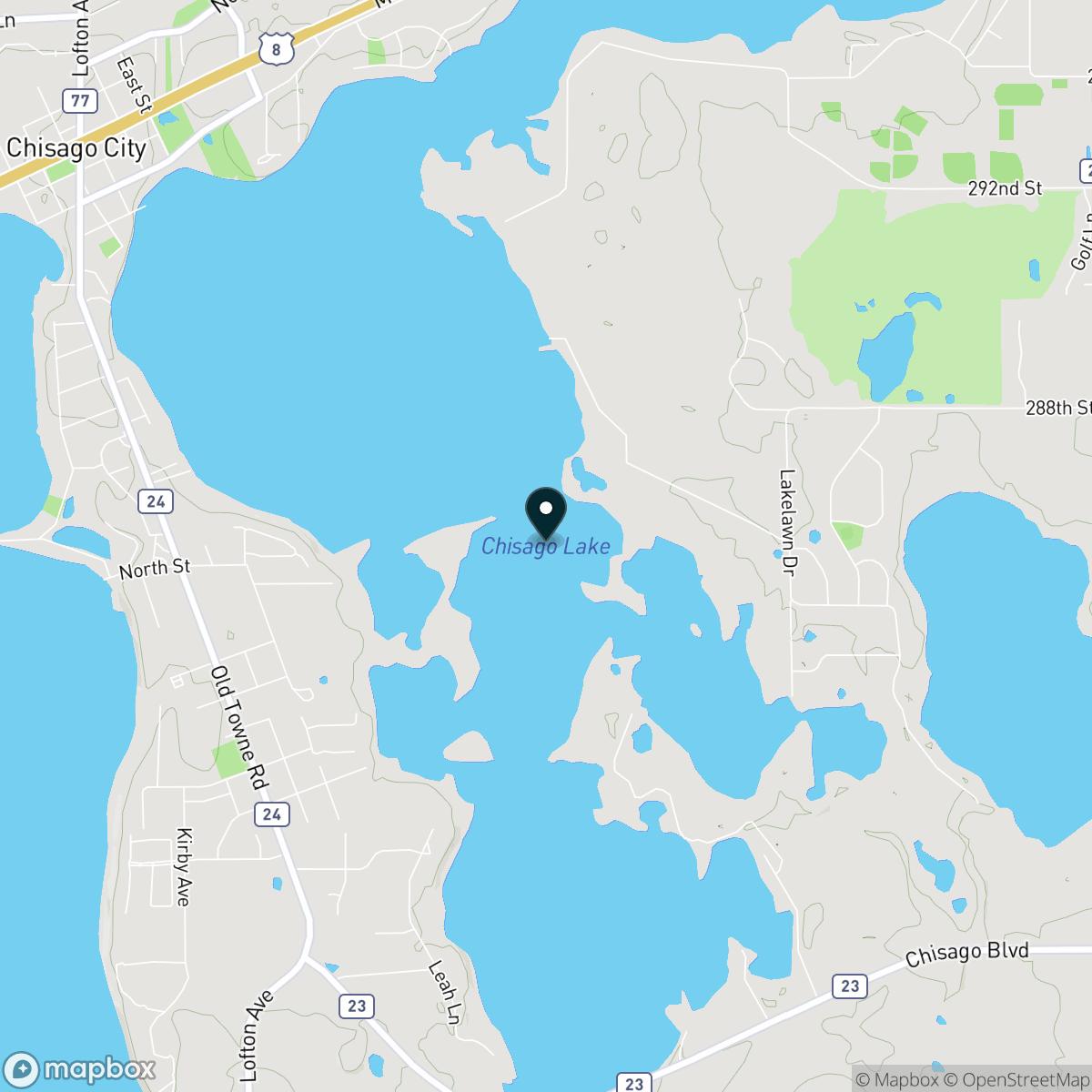 Chisago Lake Map