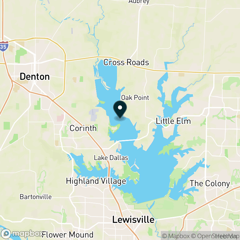 Lake Lewisville Map