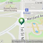 Map United States Capitol Washington, United States