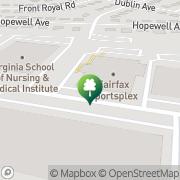 Map Fairfax Sportsplex Springfield, United States