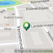 Kort Tips- & Travhjørnet København, Danmark