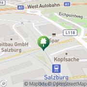 Karte MYGYM Fitnessstudio Salzburg Nord Salzburg, Österreich