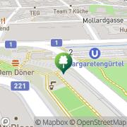 Karte Citybike (Margaretengürtel U4) Wien, Österreich