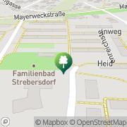 Karte Familienbad Strebersdorf Wien, Österreich