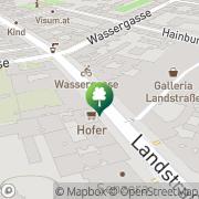 Karte Citybike (Wassergasse) Wien, Österreich