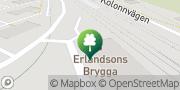 Karta Erlandsons Brygga Solna, Sverige