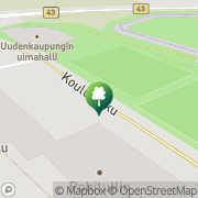 Kartta Uudenkaupungin kaupunki Uimahalli Uusikaupunki, Suomi