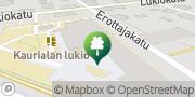 Kartta Kaurialan lukio Koulutuskuntayhtymä Tavastia Hämeenlinna, Suomi