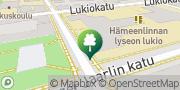 Kartta Hämeenlinnan lyseon lukio Koulutuskuntayhtymä Tavastia Hämeenlinna, Suomi