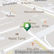 Map Yrjönkadun uimahalli Helsinki, Finland