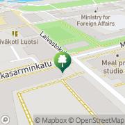 Kartta Helsingin kaupunki Katajanokan konepajan liikuntahalli Helsinki, Suomi