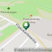 Kartta Oulun kaupunki Raksilan uimahalli Oulu, Suomi