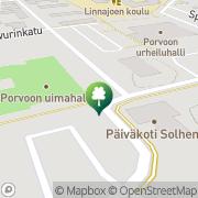 Kartta Porvoon kaupunki uimahalli Porvoo, Suomi