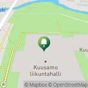 Kartta Kuusamon kaupunki liikunta- ja uimahalli Kuusamo, Suomi