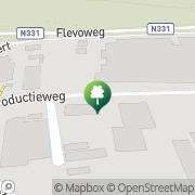 Kaart Aerofit Sportcentrum Vollenhove, Nederland
