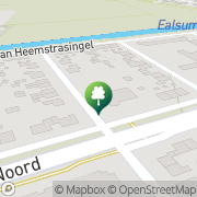 Kaart Bodde Bouman Sportcentrum Dokkum, Nederland
