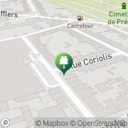 Carte de Itinéraire Design Nancy, France