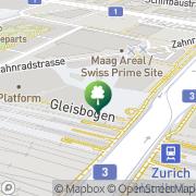 Karte maag event hall Zürich, Schweiz