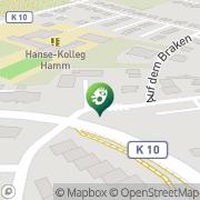 Karte Mensing Hamm, Deutschland