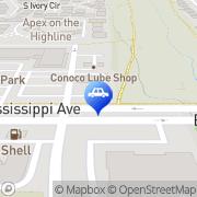 Map Texaco Xpress Lube Aurora, United States
