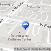 Map Cal-West Automotive Sunnyvale, United States