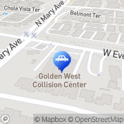 Map Golden West Collision Center Sunnyvale, United States