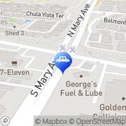 Map Georges Fuel & Auto Repair Sunnyvale, United States
