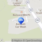 Map Autobell Car Wash Durham, United States