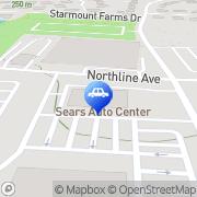 Map Sears Auto Center Greensboro, United States