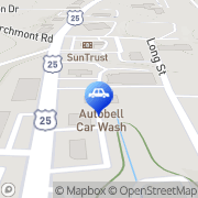 Map Autobell Car Wash Asheville, United States