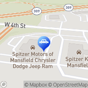 Map Spitzer Motors of Mansfield CDJR Mansfield, United States