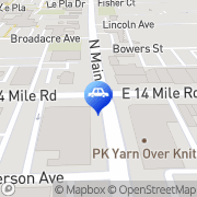 Map Roth Towing Clawson, United States