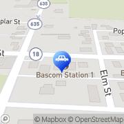 Map Hoover's Garage Bascom, United States