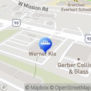 Map Werner Kia Tallahassee, United States
