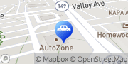 Map AutoZone Auto Parts Homewood, United States