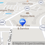 Map Fisher`s Tire & Service Pensacola, United States