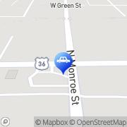Map Amoco Food Shop Decatur, United States