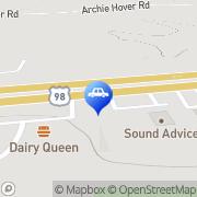 Map Sandy's Auto Sales Hattiesburg, United States