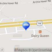 Map Rent A Van Hattiesburg, United States