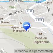 Karte OMV Tankstelle - Tankautomat Lech, Österreich