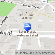 Kort Øster Hurup Autoværksted Hou, Danmark