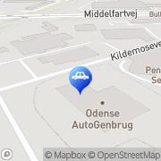 Kort Kildemosens Auto Odense, Danmark