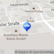 Karte Peugeot Autohaus Kühnl & Eck GmbH Haßfurt, Deutschland