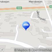 Kort Autocentrum Opel Service Vemmelev, Danmark