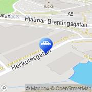 Karta Hjalmar Brantingsplatsens Trafikskola Göteborg, Sverige