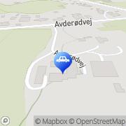 Kort Avderød Auto I/S Kokkedal, Danmark